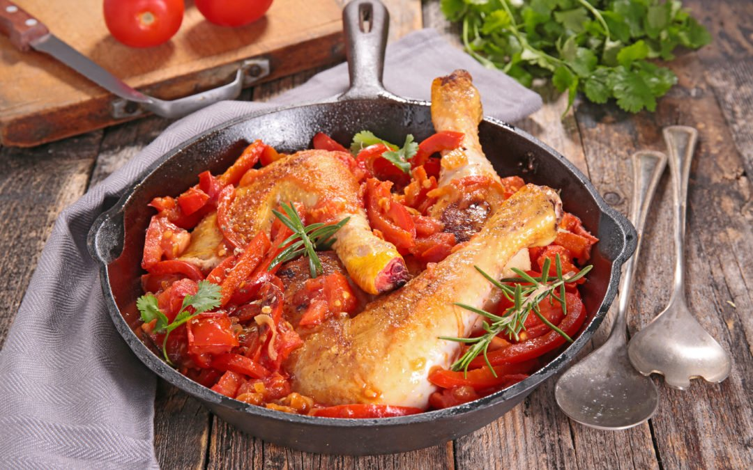 Le poulet basquaise et ses légumes du soleil