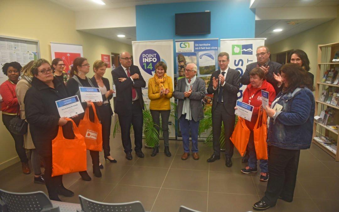 Point Info 14 du Hom et label France Services :  Visite et remise d'attestations « parcours autonomie numérique »