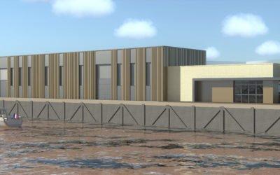 Honfleur : construction de nouveaux ateliers sur le port
