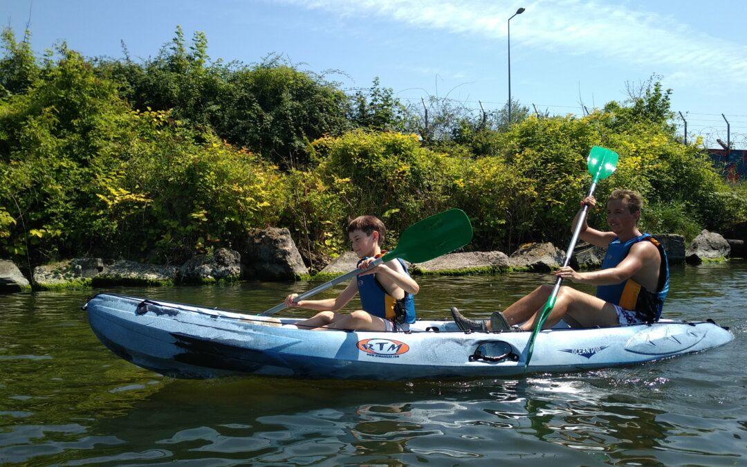 A la découverte du canal de Caen en kayak